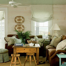 Green and Brown Living Room - MyHomeIdeas.com
