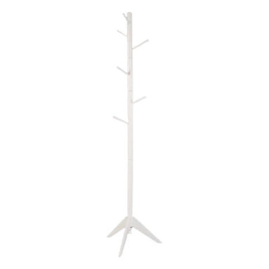 Adarn Inc. - Swival Coat Hat Rack Hooks in Every Direction Solid Wood Hall Tree, White - Your organized home starts at the door and this collection of coat racks offers you your choice of stylish storage solutions. Give guests a warm welcome when you place a coat rack in your hall or entryway, or make the most of a compact space by tucking one into a corner of your living room. Features hooks in every direction keep everyday items like coats, hats and jackets neatly in place. Available in White, Black and Espresso.