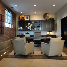 Contemporary Home Office by Ashley Campbell Interior Design