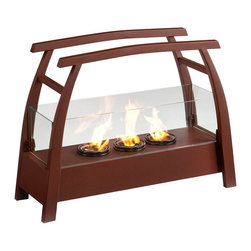 "Southern Enterprises Inc - Southern Enterprises Inc Rhome Portable Indoor/Outdoor Gel Fireplace X-248AF - It's hard enough to find time to relax - you shouldn't have to find space too! This portable fireplace is the perfect choice for any home in search of a cozy, portable fireplace for indoor and outdoor use. This portable gel fireplace offers the warmth and joys of a fireplace without wasting valuable space when not in use. FireGlo Gel Fuel snaps and crackles like real wood for the perfect fireplace experience: replace the gel fuel with decorative pillar candles for year round enjoyment. Convenience and ease of assembly are just two of the reasons why this fireplace is perfect for your home. The simple, Asian-inspired style of this portable fireplace works well in transitional and contemporary homes. It's great for the living room and bedroom, and even adds a warm, romantic touch to the dining room or home office. Move it to your patio to enjoy the warmth and beauty outdoors too! Please note: Our photos are as accurate as possible, but color discrepancies may occur between the product and your monitor. The handcrafted touch of artisan skill also creates variations in color, size and design: slight differences should be expected. - 27.25"" W x 9.5"" D x 20.5"" H - Space beneath fireplace: 2"" H - Rust red finish - Portable design moves anywhere - Holds 3 cans of FireGlo Gel Fuel - Provides up to 9000 BTU's of heat output - Emits no smoke, odor, or ash - Constructed of powder-coated metal tube, sheet metal, 5mm wire, and 5mm tempered glass - Assembly required"