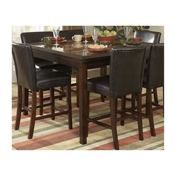 Homelegance - Expandable Counter Height Table - Chairs sold separately.