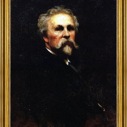 """Eastman Johnson-18""""x24"""" Framed Canvas - 18"""" x 24"""" Eastman Johnson Self Portrait framed premium canvas print reproduced to meet museum quality standards. Our museum quality canvas prints are produced using high-precision print technology for a more accurate reproduction printed on high quality canvas with fade-resistant, archival inks. Our progressive business model allows us to offer works of art to you at the best wholesale pricing, significantly less than art gallery prices, affordable to all. This artwork is hand stretched onto wooden stretcher bars, then mounted into our 3"""" wide gold finish frame with black panel by one of our expert framers. Our framed canvas print comes with hardware, ready to hang on your wall.  We present a comprehensive collection of exceptional canvas art reproductions by Eastman Johnson."""