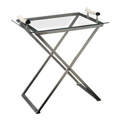 Zodax - Zodax Folding Stand for Buffet Glass Trays - Zodax - Serving / Decorative Trays - BAR345. Folding Stand for Buffet Glass Trays