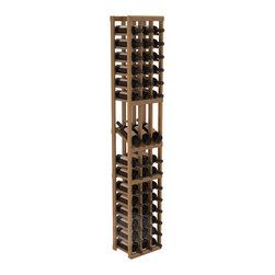 3 Column Display Row Cellar Kit in Redwood with Oak Stain + Satin Finish - Make your best vintage the focal point of your wine cellar. High-reveal display rows create a more intimate setting for avid collectors' wine cellars. Our wine cellar kits are constructed to industry-leading standards. You'll be satisfied. We guarantee it.