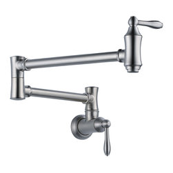 Delta Pot Filler Faucet - Wall Mount - 1177LF-AR - Timeless design for today's homes