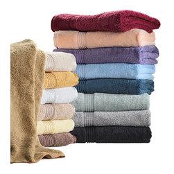 Bed Linens - Egyptian Cotton 600GSM 6pc Towel Set, 6 PC Towel Set, Mocha - Towel Set Includes: