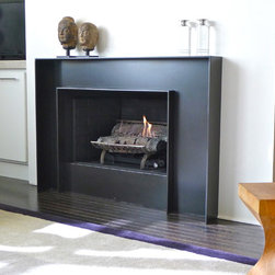 Fireplace Surround @ Pete + Tom's > Blackened Steel - © Randall KRAMER 2014
