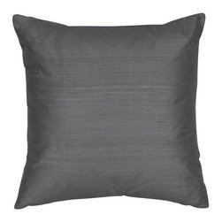 The Silk Group - Twilight Blue 22x22-Inch Silk Shantung Square Poly Insert Decorative Pillow - - Handcrafted in the USA these decorative pillows are ideal for adding that special finishing touch to any space. Available in over 100 colors several of them can be combined for a grouping of complementary colors or contrasting shades. They feature 100% Grade A Silk Shantung the finest highest quality most exquisite silk fabric on the market. A high quality knit backing is permanently bonded to the back of the fabrics used in our pillows. The knit backing adds body increased stability and longevity to the pillow. An invisible color-coordinated zipper is discretely placed on the bottom edge of the pillow so both faces of the pillow are able to be displayed. The pillow inserts we use are over-sized so our pillows will always have that desirable high soft and fluffy appearance. Our pillows are available without the insert too if you prefer to use your own. The fabric face has been treated with the most durable and permanent stain moisture and UV repellants available. This provides long lasting protection from water alcohol and oil-based stains as well as resistance from fading and discoloring over time.  - Fill Material: Down  - Dry Clean Only The Silk Group - SQ_Shant_Sol_Twilight_Blue_22x22_Poly