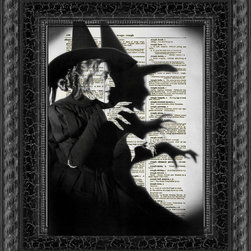 Wicked Witch Dictionary Art Print by Reimagination Prints - I love this artwork! It instills a fear in me that the Wicked Witch really is coming to get me — and my little dog too.