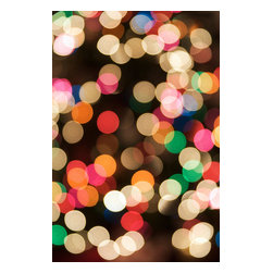 Custom Photo Factory - Blurred Christmas Lights Canvas Wall Art - Blurred Christmas Lights  Size: 20 Inches x 30 Inches . Ready to Hang on 1.5 Inch Thick Wooden Frame. 30 Day Money Back Guarantee. Made in America-Los Angeles, CA. High Quality, Archival Museum Grade Canvas. Will last 150 Plus Years Without Fading. High quality canvas art print using archival inks and museum grade canvas. Archival quality canvas print will last over 150 years without fading. Canvas reproduction comes in different sizes. Gallery-wrapped style: the entire print is wrapped around 1.5 inch thick wooden frame. We use the highest quality pine wood available. By purchasing this canvas art photo, you agree it's for personal use only and it's not for republication, re-transmission, reproduction or other use.