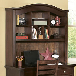 Homelegance - Homelegance Aris Computer Desk Hutch in Brown Cherry - Classic in design and bold in style, the youth version of our popular Aris Collection adds warmth and character to your child's bedroom. Bun feet serve to support the simple yet elegantly designed case pieces, while the warm brown cherry finish on select hardwoods and veneers completes the overall look. Student desk with hutch and coordinating chair are also available. - B1422-14.  Product features: Belongs to Aris Collection; Classic in design and bold in style; Bun feet serve to support the simple yet elegantly designed case pieces; Warm brown cherry finish; Select hardwoods; Veneers completes the overall look; Student desk with hutch and coordinating chair are also available. Product includes: Desk Hutch (1). Computer Desk Hutch in Brown Cherry is a part of 1009 Collection by 9.