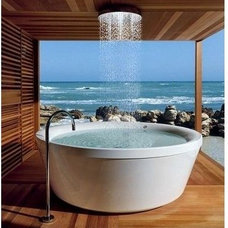 Beach Style Bathtubs by LilyAnn Cabinets