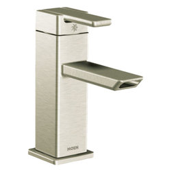 Moen - Moen S6700BN Single Handle Low Arc Bathroom Faucet - With its ultra-contemporary styling, the 90 Degree collection brings a sharp, clean look to the home.