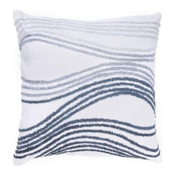 Rizzy Home - White and Gray Decorative Accent Pillows (Set of 2) - T2228B - Set of 2 Pillows.