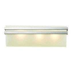 Trans Globe Lighting - 20253 SN Metro Rectangle 3 Light Vanity - Industrial look from a contemporary rectangle bath vanity light adds maximum area lighting from above and below. Complete wall coverage easily covers existing openings for an easy installation. Suitable for hallways, bedrooms, or bath areas.