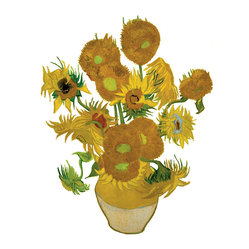 OOTS! - Flat Flowers Special Edition Van Gogh - Sunflowers - Make your windows appear as if the Van Gogh fairy visited during the night and painted his famous Sunflowers on the glass. This special edition version of Flat Flowers is a lifelike recreation of the famous work displayed in a way that visitors both inside and outside your home can enjoy.