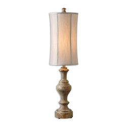 Uttermost - Corinaldo Wood Buffet Lamp - You'll want to carve out some room for this eye-catching wood lamp. Its handsome solid-wood base and sleek shade certainly make enough of a solid argument for how well it'll look on just about any table in your home.