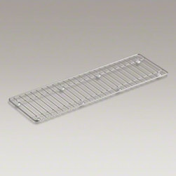 """KOHLER - KOHLER Undertone(R) stainless steel sink rack, 25-3/16"""" x 7-11/16"""" - Designed to span across the top of the Undertone trough sink, this rack creates a convenient station for food prep and for drying dishes and glassware whenever you need it."""