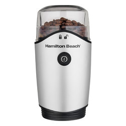 Hamilton Beach - Coffee Grinder - This Fresh Grind Grinder from Hamilton Beach is very quiet. With durable Stainless Steel blades, it grinds coffee and spices. It features a removable grinding chamber for easy filling and dishwasher cleaup, hidden cord storage and On/Off button.