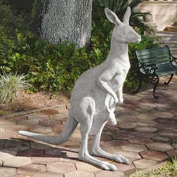 Design Toscano Australian Outback Kangaroo Garden Sculpture - About Design Toscano:Design Toscano is the country's premier source for statues and other historical and antique replicas, which are available through the company's catalog and website. Design Toscano's founders, Michael and Marilyn Stopka, created Design Toscano in 1990. While on a trip to Paris, the Stopkas first saw the marvelous carvings of gargoyles and water spouts at the Notre Dame Cathedral. Inspired by the beauty and mystery of these pieces, they decided to introduce the world of medieval gargoyles to America in 1993. On a later trip to Albi, France, the Stopkas had the pleasure of being exposed to the world of Jacquard tapestries that they added quickly to the growing catalog. Since then, the company's product line has grown to include Egyptian, Medieval and other period pieces that are now among the current favorites of Design Toscano customers, along with an extensive collection of garden fountains, statuary, authentic canvas replicas of oil painting masterpieces, and other antique art reproductions. At Design Toscano, attention to detail is important. Travel directly to the source for all historical replicas ensures brilliant design.