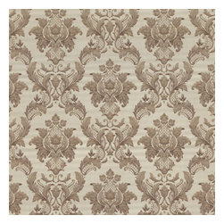 Estate Brass Damask Wallpaper Bolt - Your walls will look radiant and timeless in this gorgeous damask wallpaper like embroidered silk in a polished brass hue.