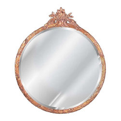 Hickory Manor House - 35 in. Dia. Flower Basket Mirror in Bronze Fi - Vintage original. Custom made by artisans unfortunately no returns allowed. Enhance your decor with this graceful mirror. Made in the USA. Made of pecan shell resin. 35 in. Dia. (21 lbs.)