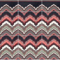 Mediterranean - Flame from the SeaLane Collection makes a wonderful tapestry of pattern when used en masse or is equally at home as stair risers.