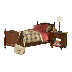 Homelegance - Homelegance Aris 2 Piece Poster Kids' Bedroom Set in Brown Cherry - Classic in design and bold in style, the youth version of our popular Aris collection adds warmth and character to your child's bedroom. Bun feet serve to support the simple yet elegantly designed case pieces, while the warm brown cherry finish on select hardwoods and veneers completes the overall look. Student desk with hutch and coordinating chair are also available.