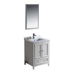 """Fresca - Fresca FVN2024AW Oxford 24"""" Antique White Traditional Bathroom Vanity - Fresca FVN2024AW Oxford 24"""" Antique White Traditional Bathroom Vanity"""