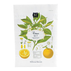 Hillhouse Naturals - CITRUS No. 7 Sachet - This pretty little packet bursts with invigorating scents that will enliven any nook in your home. The Citrus No. 7 Sachet effortlessly keeps your closets and drawers smelling fresh, and you'll feel as if you've just stepped into a citrus garden.