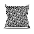 "Kess InHouse - Mydeas ""Diamond Illusion Damask Black & White"" Pattern Throw Pillow (16"" x 16"") - Rest among the art you love. Transform your hang out room into a hip gallery, that's also comfortable. With this pillow you can create an environment that reflects your unique style. It's amazing what a throw pillow can do to complete a room. (Kess InHouse is not responsible for pillow fighting that may occur as the result of creative stimulation)."