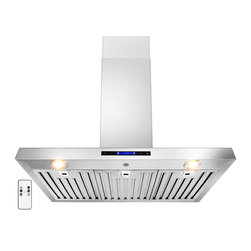 "AKDY - AKDY AG-ZZ01 Euro Stainless Steel Wall Mount Range Hood, 36"" - The AKDY Z01 combines European design with tremendous value to meet the requirements of today's conventional appliance and kitchen styles. Its 760 CFM centrifugal blower and multispeed control provide quiet, effective performance. A fully enclosed bottom contains a dishwasher safe filter for easy cleaning. Plus, dual cooktop illumination.Optional recirculating kits are available."