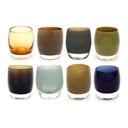 The Man Set - The perfect combination of fine design and masculinity that is sure to make any home bar feel really like a dive bar with some added class. The earthy hues are beautiful and though the collection doesn't match, the set seems complete.