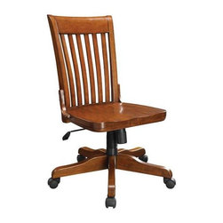 Winners Only - Topaz Office Chair in Cinnamon Finish - Includes pump. Minimal assembly required. 28 in. W x 28 in. D x 36 in. H