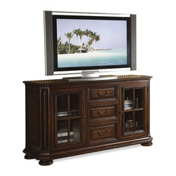 Riverside Furniture - Cantata 61 in. High Waist TV Console - With a traditional appeal and superb craftsmanship, our Cantata theater collection adds style and comfort to your entertainment possibilities.