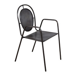 Toby Iron Stacking Chair - Product Features: