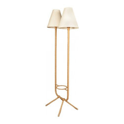 floor lamp 1950s style floor lamp two lighted arms tailored lamp. Black Bedroom Furniture Sets. Home Design Ideas