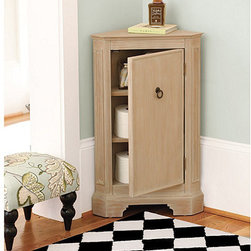 Ballard Designs - Miranda Corner Cabinet - I love that you don't need a lot of space to add this great corner cabinet.