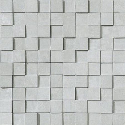"""Marca Corona - Reaction Grey Brick 12"""" x 12"""" - Reaction, a full-body porcelain line, springs from the combination of art and material, and perfectly fits metropolitan interiors bringing a sign of unmistakable style to be lived in day to day."""