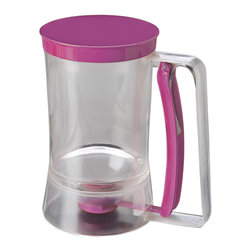 Chicago Metallic Batter Dispenser - Make cupcakes and muffins without the mess. Our easy to use Batter Dispenser eliminates scooping from bowl to pan giving you clean professional results. Just fill the dispenser and pull the quick-release handle to release batter from the bottom opening. Also great for pancakes crepes and more.