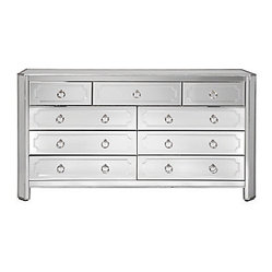 Simplicity Mirrored 9 Drawer Chest