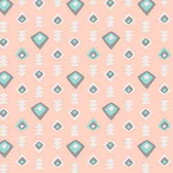 Chasing Paper - Tribal Coral S002203 Wallpaper Panel - Tribal Coral S002203 Wallpaper Panel is Self-adhesive.Collection name: Self Adhesive Wallpaper PanelSize of each panel is 2 feet by 4 feet.This wallpaper panel with small tribal prints in coral tones gives a subtle and warm look to your walls. Also, the wallpaper panel is removable and easy to install.