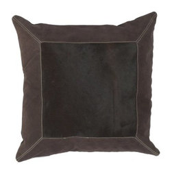 "Surya Framed Decorative Pillow - Espresso - About Surya RugsSince 1976 Surya has established itself as one of India's leading producers of fine hand-knotted, hand-tufted, and flat-woven rugs. Their products are sold in the U.S.A. at respected department and specialty stores. The company is known for its quality, value, dedication, and innovation. This includes responsibility for the entire process - spinning, dyeing, weaving, and finishing. Surya prides itself on using the best raw material available for the production of their rugs. They are proud members of """"Wools of New Zealand."""" From design concept through production, a Surya family member is involved, making sure that the highest standards are being met at each level. Surya works with top designers and constantly updates their designs and color palettes to match and set the trends in design and fashion for the home. Surya always means a fine choice in rugs."