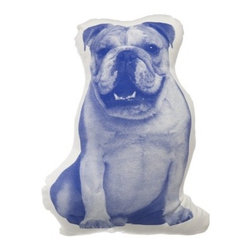 """Areaware - MINI English Bulldog Pillow - Designed by: Ross Menuez Features: -Cushions or dolls. -Inspired by Victorian shaped pillows. -Graphics based on the first mass produced images from 19th century illustrations. -Dimensions: 12"""" W x 16"""" D."""