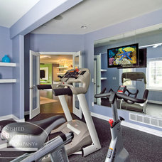 Contemporary Home Gym by Finished Basement Company