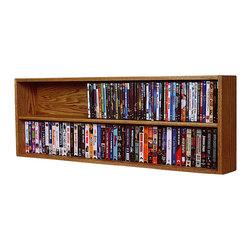 CD Racks - Solid Oak Wall or Shelf Mount DVD/VHS tape/Book Cabinet - Handcrafted by the Wood Shed from durable solid oak hardwood