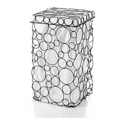WS Bath Collections - Sesti 53310 Laundry Basket - Sesti by WS Bath Collections Laundry Basket with Cotton Bag with Lid
