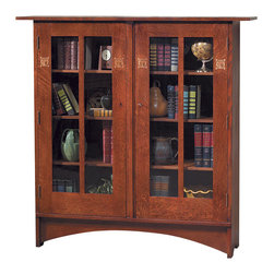 Stickley Harvey Ellis Bookcase w/Inlay 89/91-706 -