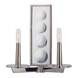 Hudson Valley Lighting - Hudson Valley Lighting 312 Ashley 2 Light Wall Sconce - Hudson Valley Lighting 312 Ashley 2 Light Wall SconceThe Ashley Collection has a contemporary look enhanced by artfully placed glass globes and angular support arms.Hudson Valley Lighting 312 Specifications: