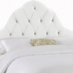 Skyline Furniture - Skyline Arch Tufted Headboard in Velvet White - This headboard will add a little allure to any bedroom. Upholstered in luxuriously soft velvet, this headboard boasts handcrafted diamond tufts with a beautiful arched silhouette. It's the perfect balance of fashion and comfort.